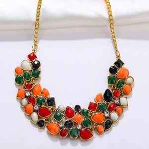 PIPER Multicolor Gemstone Statement Necklace